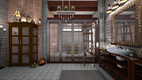 Rustic and Eclectic - Rustic - Bathroom - by XiraFizade
