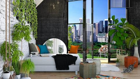 Urban Jungle - Bedroom - by ArtHousedeco