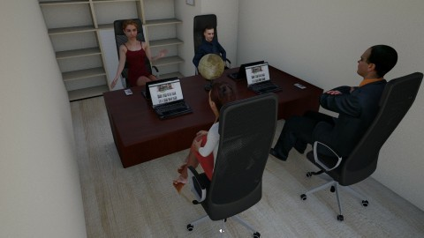 Office1 - Modern - Office - by neizdarja