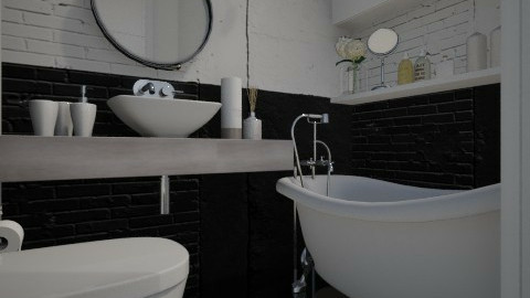 Paris Petit Toilette - Eclectic - Bathroom - by Maria Esteves de Oliveira