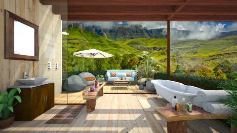 Shower in Africa - Rustic - Bathroom - by Bianca Biffa Hart