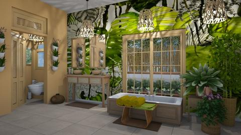 Matilda's jungle bathroom - Bathroom - by Matilda de Dappere