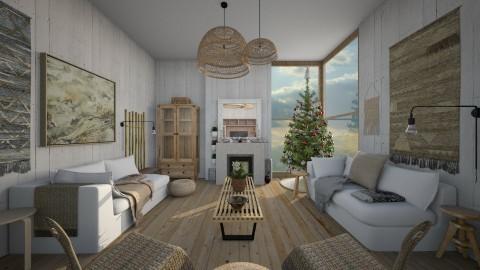 Simple Xmas - Rustic - Living room - by camilla_saurus