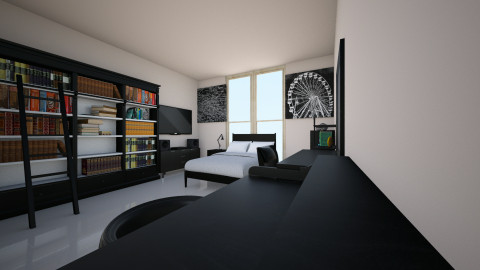 Black - Modern - Bedroom - by Zaphire