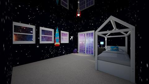 space bedroom - Kids room - by wolfiewolf123