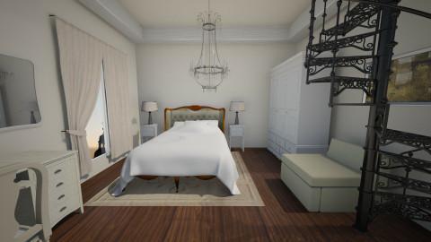 Elegant bedroom - Glamour - Bedroom - by FlorenciaaC