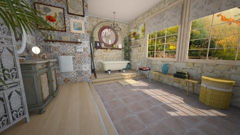 boho bath - Eclectic - Bathroom - by donella