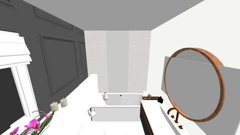 batrhroom black and white - by floristdeco