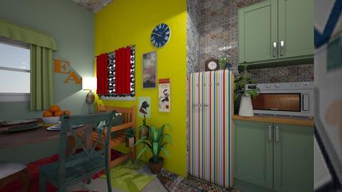boho kitchen - Kitchen - by HIHELLOHI
