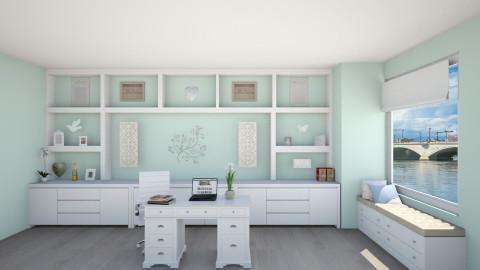 Office - Modern - Living room - by jillofish