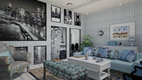 Blue - Classic - Living room - by Debora Cris