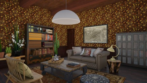 the botanists living room - Rustic - Living room - by corbu_cat