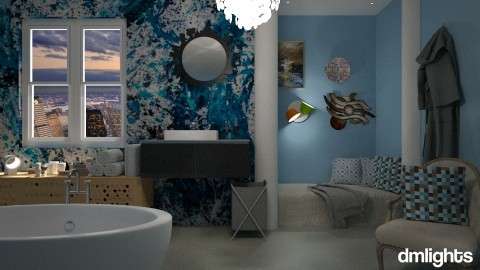 blue light2 - Bathroom - by DMLights-user-1347177