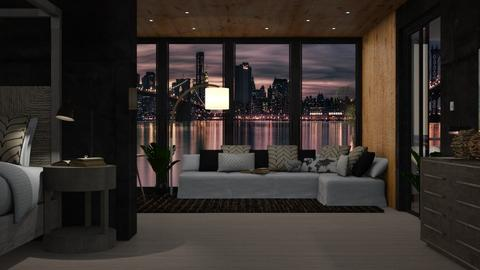 hotel room  - Modern - by NEVERQUITDESIGNIT