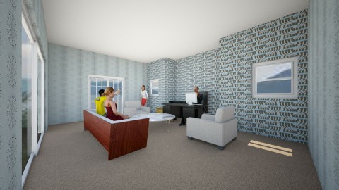 Family room and office  - Modern - Office - by callumip9