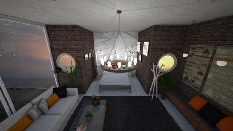 Boho City Mural - Global - Living room - by stokeshannah
