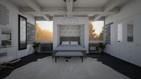 Geometric Faux - Minimal - Bedroom - by Joy Oke