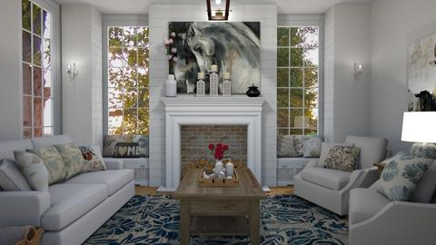 Farmhouse Living - Living room - by rachaelphillips636
