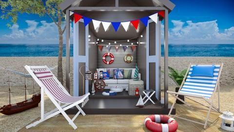 Beach Hut - by Laurika