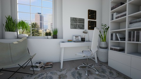 Study corner - Office - by Tuija