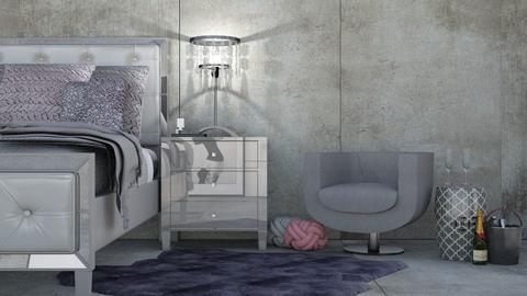 gray - Bedroom - by interiorinterior