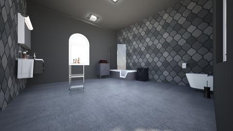 Black Bathroom - Bathroom - by TalithaVB