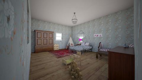 For Julie - Vintage - Kids room - by kittytarg