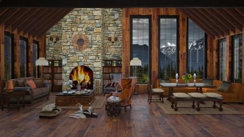 Rocky Mt Cabin - by lydiaenderlebell