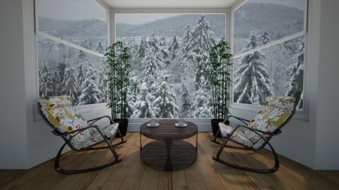 A winter landscape - by Enis Fejzullahu