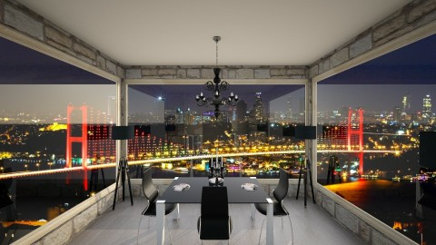 Beautiful view - Dining room - by Evly97