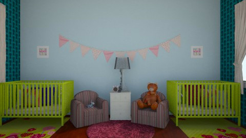 twins - Classic - Kids room - by Katherine Gilbert