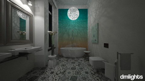ombre walls 1 - Classic - Bathroom - by DMLights-user-982918