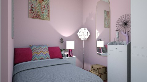 Chambre rose  - Feminine - Bedroom - by melanie99