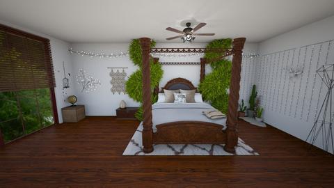 Bohemian bedroom - Bedroom - by yaizalloriginal