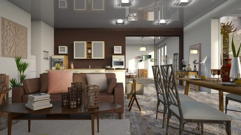 Brown Eternity - Living room - by ZuzanaDesign