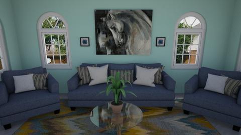 Stunning Stallion Style - Living room - by katherinehartman