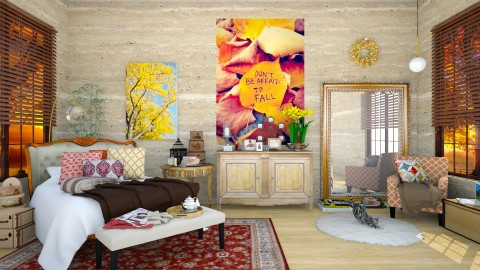 Fall Autumn Inspired Bedroom - Classic - Bedroom - by creativediva