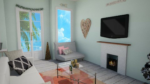 Tropical Christmas - Living room - by Kinsey Sadler