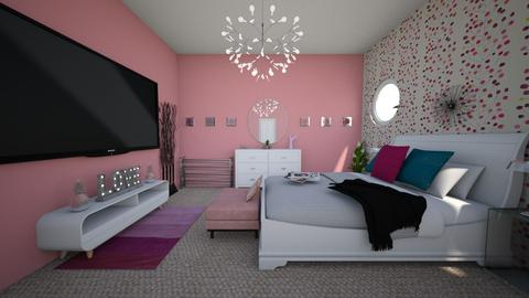 Pink Velvet Vibes 2 - Bedroom - by Eboni Bell