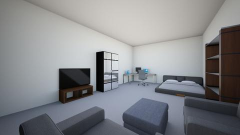 My Gray Theme Bedroom - Minimal - Bedroom - by metekrl14