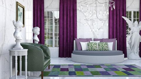 Purple and Green - Modern - Living room - by millerfam