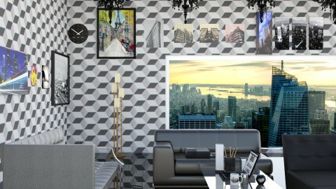 City Girl Living Room - Modern - Living room - by InteriorDesigner111