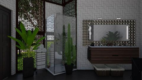 A touch of green - Bathroom - by Miss MH