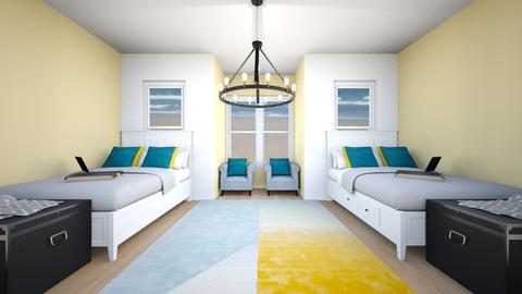 Yellow_Blue Sunset - Eclectic - Bedroom - by WPM0825