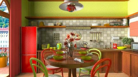 Bright Cooking - Kitchen - by Violetta V