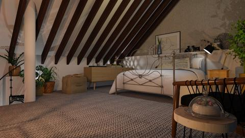 Attic bedroom - Living room - by Just Bee
