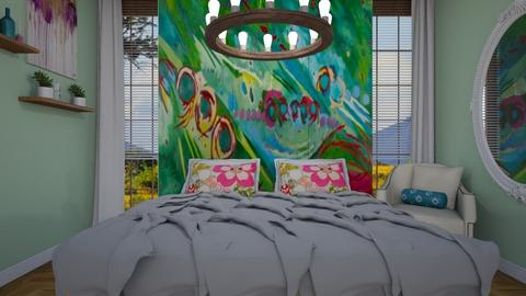 mural - Classic - Bedroom - by donella