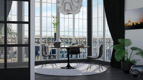 Paris Rooftops - Minimal - Dining room - by HenkRetro1960