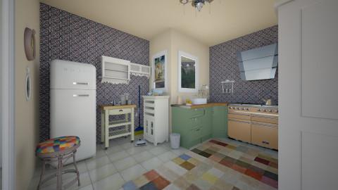 kitchen and utility b - Vintage - Kitchen - by mrschicken