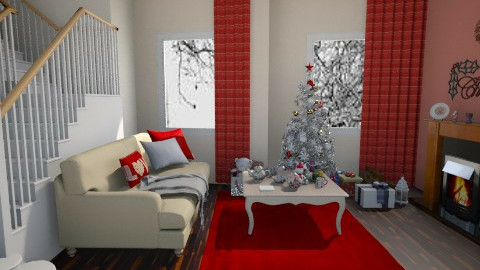 christmas - Living room - by Amyy